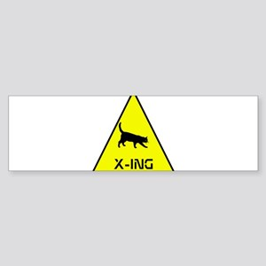 Kitty Crossing Sticker (Bumper)